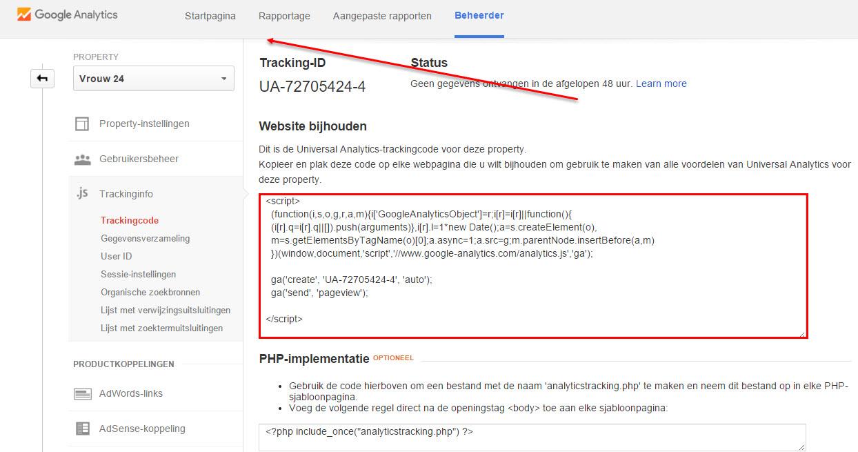 Universal Analytics-trackingcode