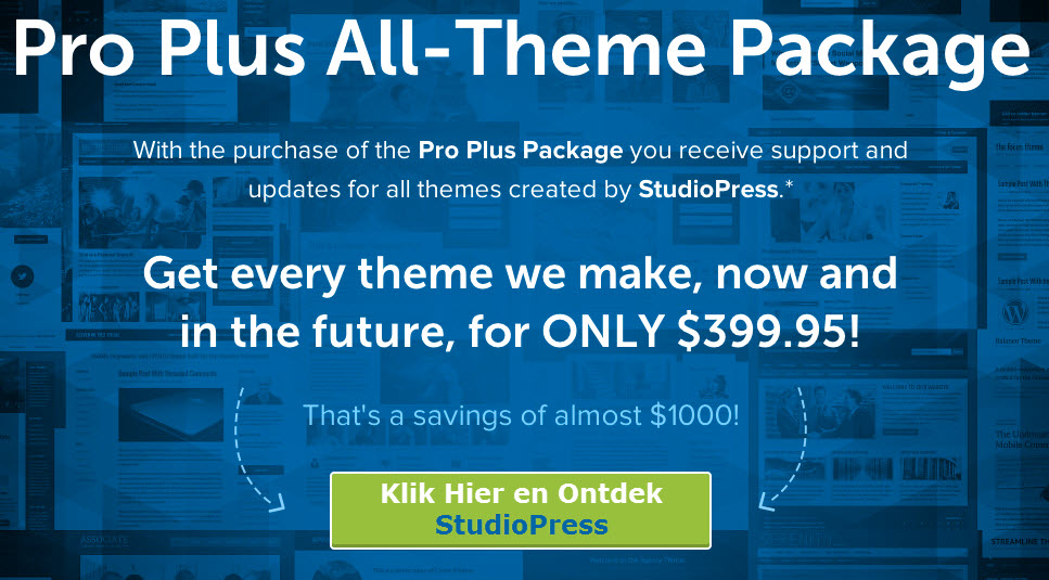 studiopress wordpress themes package deal