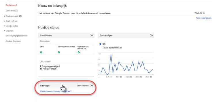 sitemap toevoegen aan google webmaster tools