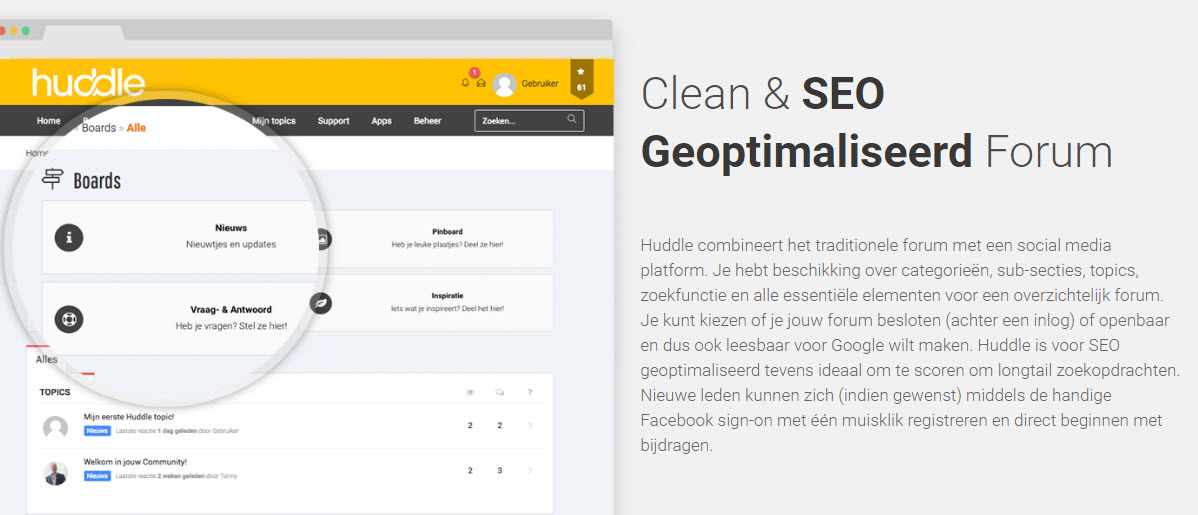 SEO geoptimaliseerde forum software