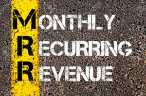 Maandelijkse terugkerende inkomsten